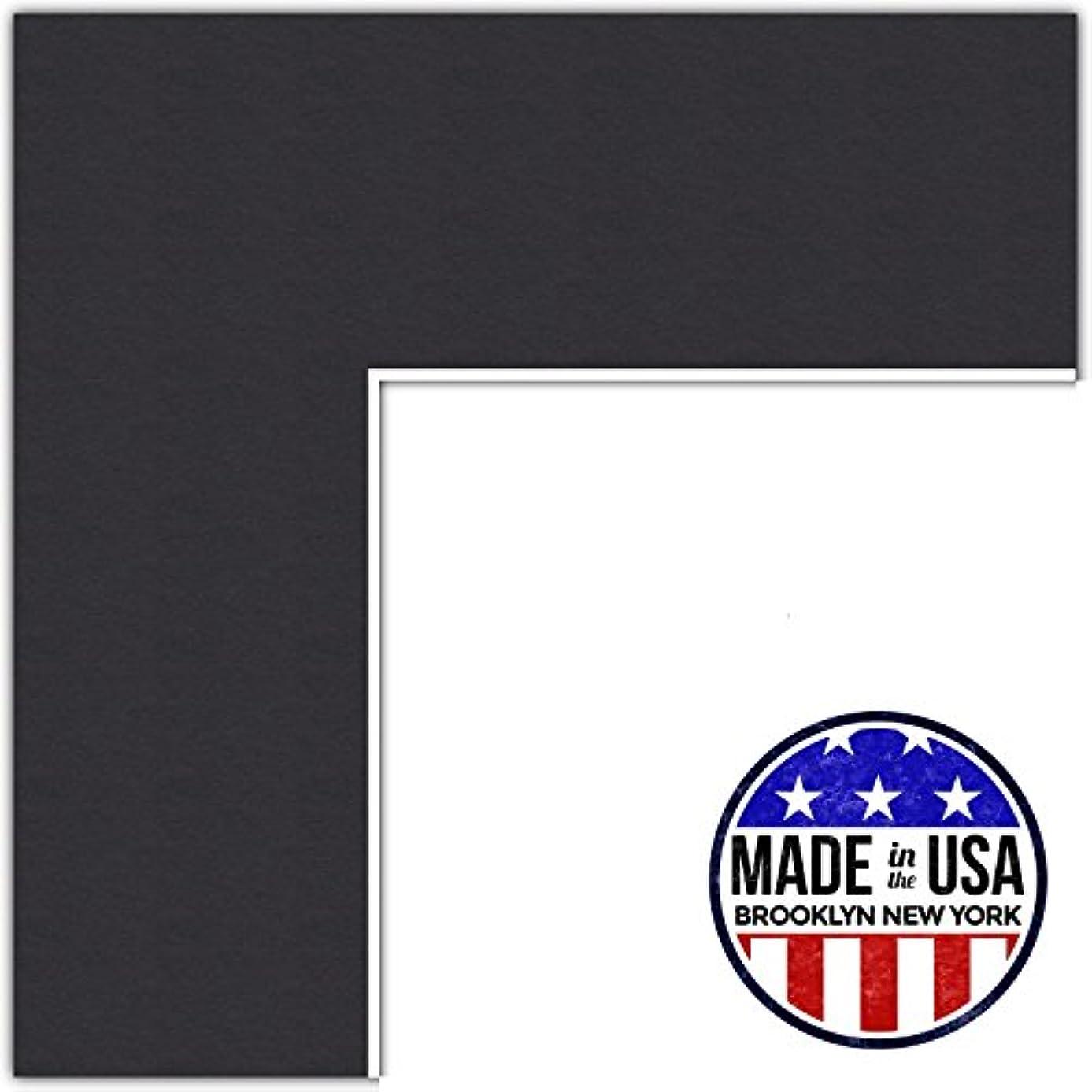 ArtToFrames MAT-21-11x36-Black 11x36 Smooth Black Custom Mat