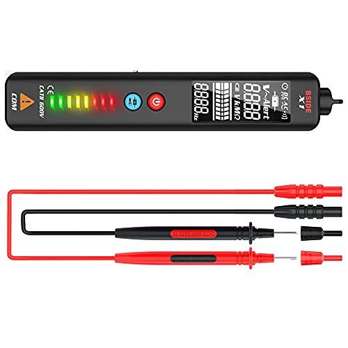Detector de Voltaje de Bolígrafo Eléctrico,Probador de Voltaje Sin Contacto Probadores de Circuito Sensor,12V-1000V Detector de Tension, Linterna LED,Sensibilidad Ajustable