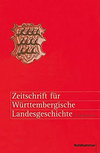 Zeitschrift Fur Wurttembergische Landesgeschichte: 80. Jahrgang (2021) (German Edition)