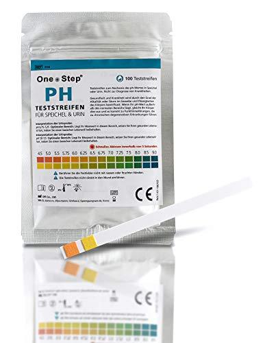 100 One+Step pH Teststreifen für Urin UND Speichel - pH Test zur Ermittlung ph Wert