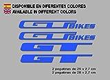 Ecoshirt ES-X5XY-7TV9 Pegatinas GT Bikes F121Vinilo Adesivi Decal Aufkleber Клей MTB Stickers Bike, Azul