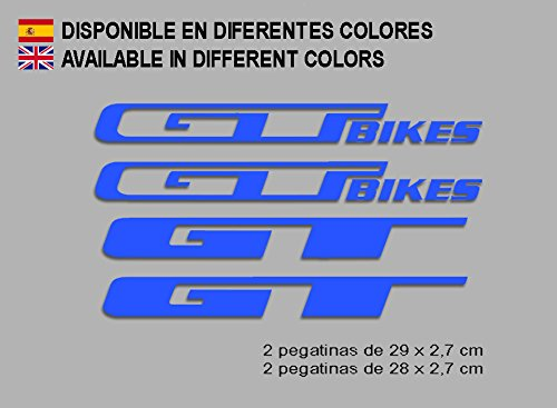Ecoshirt P7-L1H5-YFTH Pegatinas GT Bikes F121 Vinilo Adesivi Decal Aufkleber Клей MTB Stickers Bike, Azul