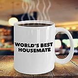 La mejor taza de café para compañeros de piso del mundo & acirc; & euro; Regalo divertido para compañeros de piso & acirc; & euro; Idea de regalo de cumpleaños perfecta para Navida