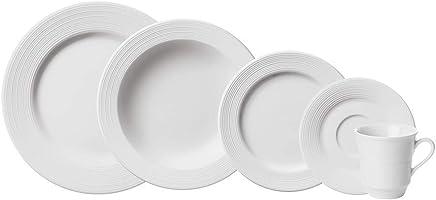 Serviço de Jantar e Chá, Porcelana Schmidt, Saturno 578 9 030 291 058 0000, Branco, pacote de 30