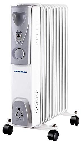 Pro Elec 2kW 9 Fin Oil Filled Radiator, White PELL0207-UK