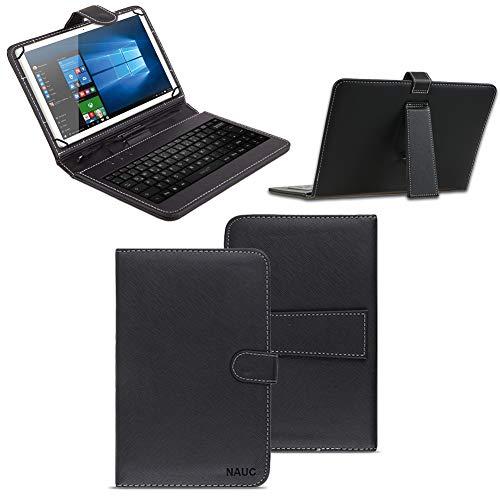 NAUC Schutzhülle Tastatur Tasche Tablet Keyboard Micro USB Hülle Cover Schutz Case, Tablet Modell für:Medion Lifetab P9702