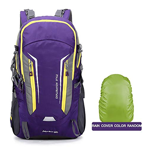 FWQAZ Lightweight Packable Hiking Backpack 40L Travel Hiking Daypack for Men/Women, Ultralight Foldable Backpack for Outdoor Camping Sports - 55X31X20CM