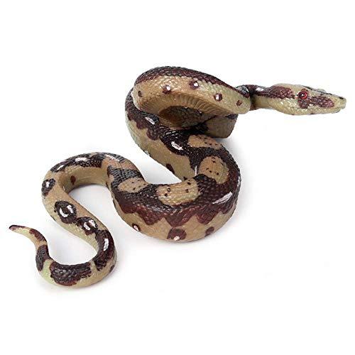 Horror Dekoration Simulation Schlangenspielzeug Boa Constrictor Big Snake Modell Spielzeug Wild Life Spielzeug Modell Amphibien Reptil Schlange Tricky Toy 14X13X6CM
