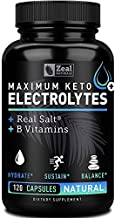 Keto Electrolyte Supplement (120 capsules) Electrolyte Tablets w REAL Salt, B Vitamins, Magnesium and Potassium Supplements - Electrolyte Powder Salt Pills & Electrolyte Drink Hydration Tablets