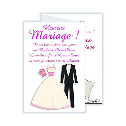 afie 69-3942 Carte 3 Volets Heureux Mariage Union Amour Amitié Cérémonie Cœur Oui Symbole