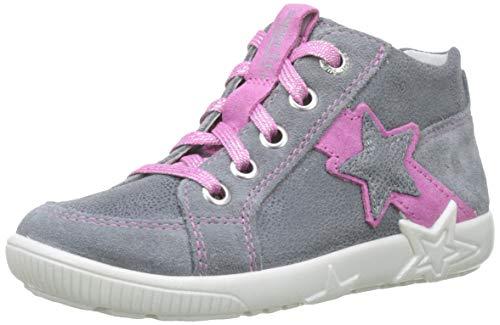 Superfit Baby Mädchen Starlight Lauflernschuhe Sneaker, Grau (Smoke Kombi 44), 23 EU