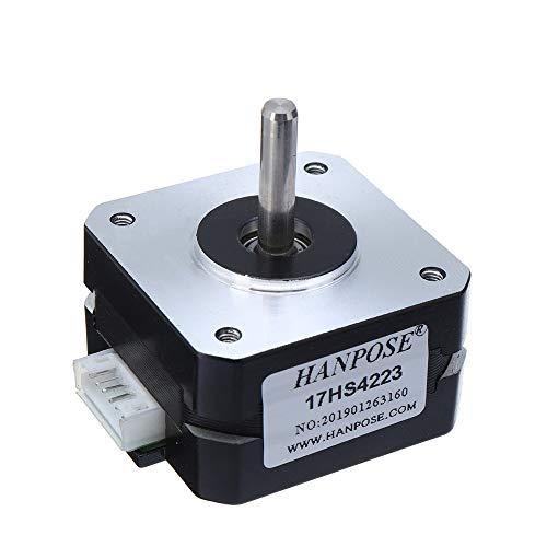 @THIIN HANPOSE 17HS4223 23mm Nema 17 Stepper Motor 42 Motor 42BYGH 0.7A 14N.cm 4-Lead for 3D Printer Extruder J-Head Bowden Titan Extruder