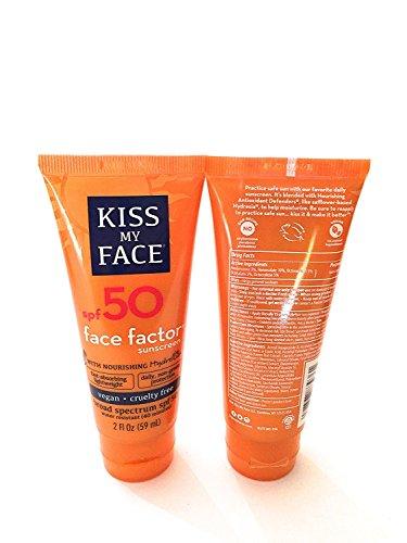 Kiss My Face Face Factor Face + Neck Sunscreen SPF 50 2 OZ (Pack of 2)