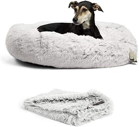 Best Friends by Sheri Bundle Savings The Original Calming Shag Donut Cuddler Dog Bed in Large product image