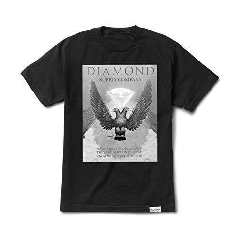 Diamond Supply Co. Men's Double Eagle Short Sleeve T Shirt Black M