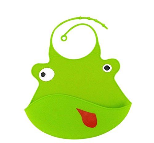 JUNGEN Bavoir Bébé Plastique Souple Recuperateur Elastique Silicone Souples Cute Cartoon Echarpes