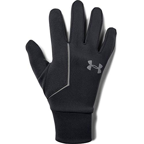 Under Armour Men's ColdGear Infrared Run Liner Gloves , Black (001)/Silver , Small