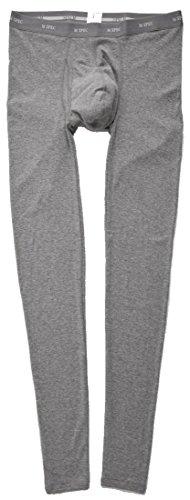MSPEC Pantalones largos térmicos transpirables con entrepierna 3D para hombre -  Gris -  XX-Large