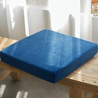 Waigg Kii Cojines de asiento cuadrados blandos, cojines de asiento con cremallera, 40/45/50/55 cm, cojines acolchados para jardín, hogar, interior y exterior (azul oscuro, 55 x 55 x 5 cm)