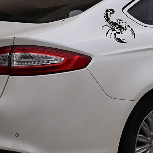2 Stück Autoaufkleber Kreative Persönlichkeit Stil Vorne Und Hinten Reflektierende Skorpion Schwarz Skorpion Aufkleber Autoaufkleber Lustige Vinyl Aufkleber Fenster Aufkleber Auto Stoßstange Auto