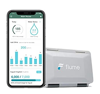 Flume 2 Smart Home Water Monitor & Water Leak Detector  Detect Water Leaks Before They Cause Damage Monitor Your Water Use to Reduce Waste & Save Money Installs in Minutes No Plumbing Required