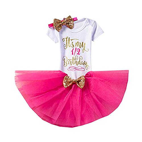 CH/&Q Newborn Baby Its My 1st//2nd Birthday Party Cake Smash Shinny Sequin Bow Tie Tulle Tutu Girl Princess Dress Romper