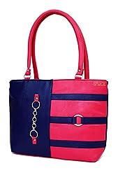 SPLICE Women Tote Bags Womens Quality Hot Selling Trendy Shoulder Handbags (Pink)