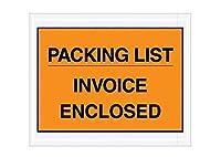 RetailSource E100701PO500 Packing List/Invoice Enclosed Envelopes 10 x 7 x 1 Orange (Pack of 500) [並行輸入品]