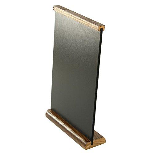 Table d'angle-R-Us Tableau noir pour Menu Chêne foncé A4 Base des informations TSB-Menu format A4