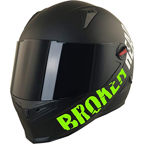 Broken Head BeProud Helm | Motorradhelm Set inkl. Schwarzem Visier – Integralhelm – Karthelm – Nakedbike schwarz-matt S (55-56 cm) - 4