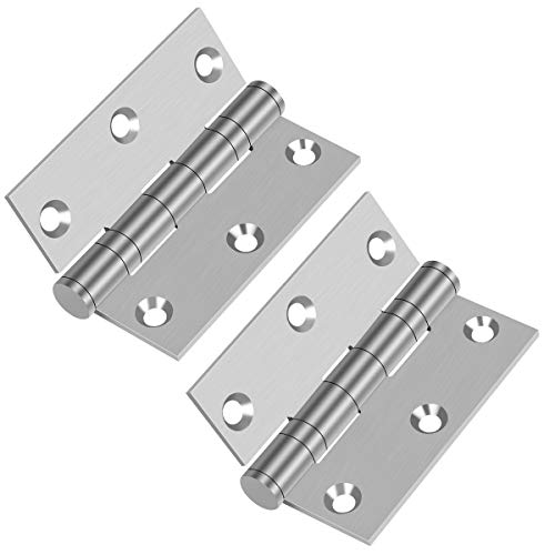 Commercial and Residential 3''x 2.4'' 304 Stainless Steel Door Hinge with 2 Ball Bearing-Pack of 2