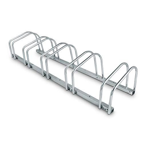 Heureux Houseware 5 Bike Bicycle Floor Parking Adjustable Storage Stand Rack Parking Garage Indoor Outdoor …
