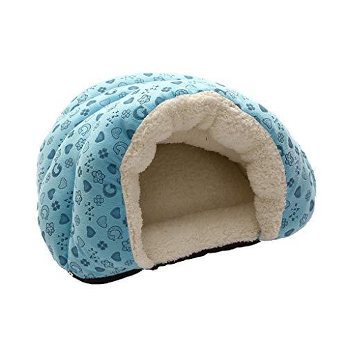 Yowablo Hundekorb Katzenbett Hundesofa Hundehütte Hunde Körbchen Katzenhöhle Kuschelsack Hunde Schlafsäcke Hundezimmer Kuschelhöhle Komfortbett Hunde Katzenhöhle (45 * 50 * 30cm,Blau)
