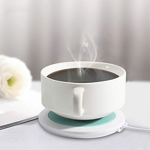 FORNORM USB Cup Mug Warmer, PU Leather USB Cup Heater USB Coaster Warmer...