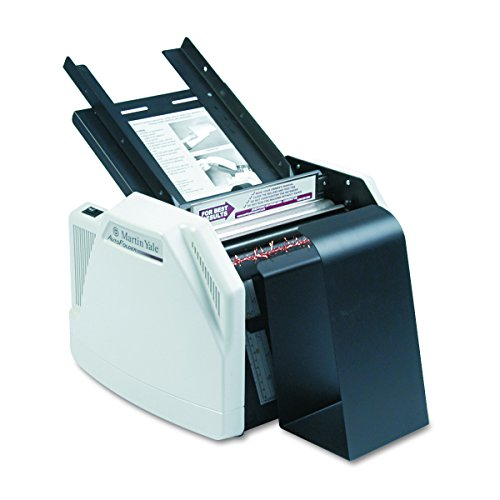 Martin Yale 1501X Automatic Paper Folder, Operates at a Speed of up to 7,500 Sheets per Hour, 150 Sheets Feed Table capacity, Up to 3 Sheets Manual Paper Feed,Grey