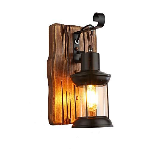 La sola lámpara pared madera color pintura metal