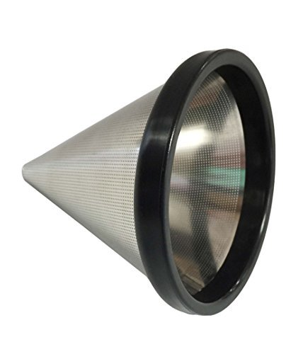 Think Crucial Washable & Reusable Stainless Steel Cone Coffee Filter Fits Chemex«-Brand 3 Cup Coffee Makers