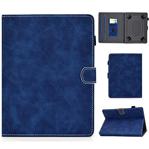 ANCASE Fundas duras para Tablets Universal 10 Pulgadas con Tapa Libro Case Cover Carcasa de Cuero para Modelo Samsung Huawei Apple Lenovo Tablet 9.6 9.7 10.1 10 Inch, Dorado