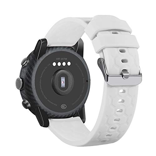 Ruentech Pulseras compatibles con Fossil Q Gen 4 Venture HR/Fossil Q para mujer Gen 3 Venture pantalla táctil, reloj inteligente Fossil Q para mujer, correa híbrida de silicona