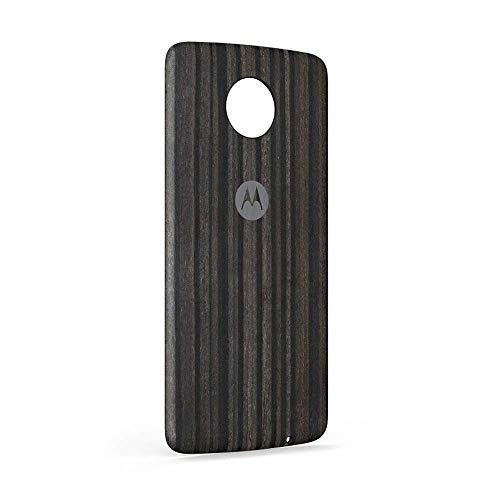 Motorola Moto Z Force Mod Style Rückabdeckung Tür – Anthrazit Eschenholz