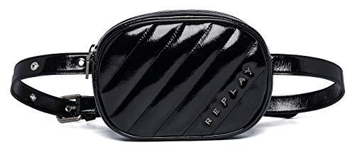 Replay Damen Fw3917.000.a0316b Clutch, Schwarz (Black), 4x13x19 cm