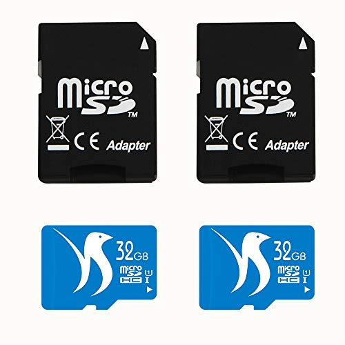 FATTYDOVE 32GB High Speed 2-Pack Micro SD Card with Adapter Compatible with Surveillance Camera Wyze, IP Security Camera, MP3/MP4 Player(32GB U1 2 Pack)