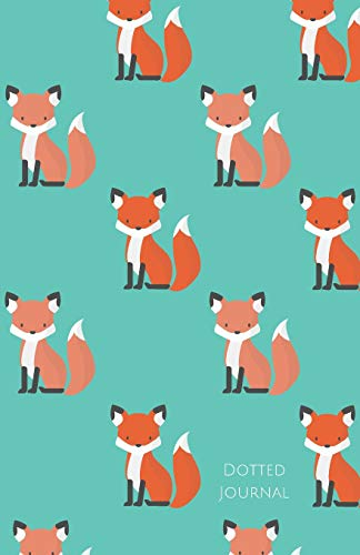 Dotted Journal: Notebook with Dot Grid Foxes Aqua