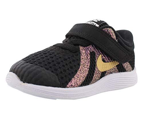 Nike Revolution 4 Sh (TDV), Pantofole Unisex-Bimbi 0-24, Multicolore (Black/Metallic Gold/White 001), 21 EU