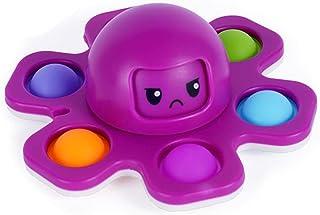 Pop Fidget Spinner Face-Changing Octopus Gyro Toy Eenvoudige Dimple Fidget Vinger Toy Hand Spinner Druk Bubble Fidget Spin...