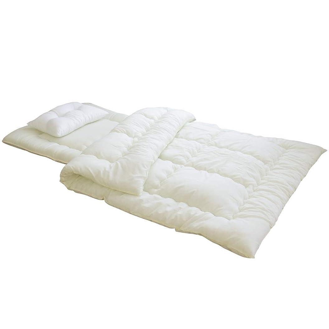 牧師スプリット工業化する寝具のドリーム ふとんセット 日本製 敷き布団 掛け布団 枕 布団セット (シングル3点セット)
