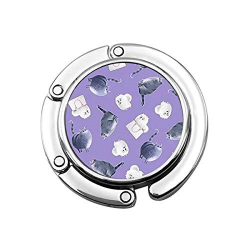 Pets Life Purple Secret Tenedor de Monedero Plegable, Gancho de Bolso de...