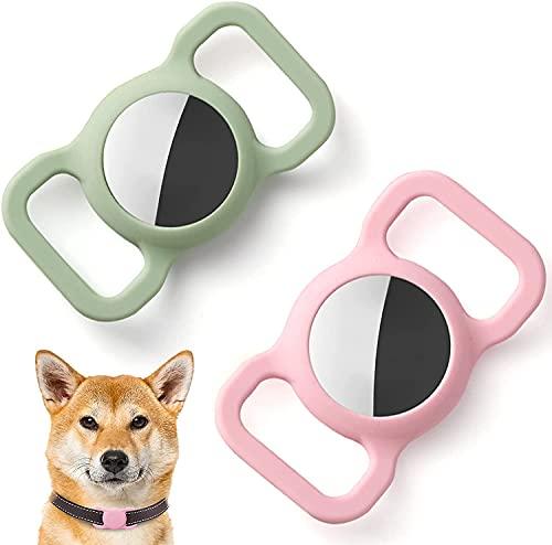 3 pcs Funda Protectora de Silicona para Mascotas para Apple Airtag GPS Finder Dog Cat Collar Loop, Pet Loop Holder para Air_Tag, para Apple Locator Tracker Dispositivo Anti-pérdida,Apple AirTag Funda