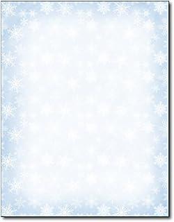 Blue Snowflakes Holiday Stationery - 80 Sheets