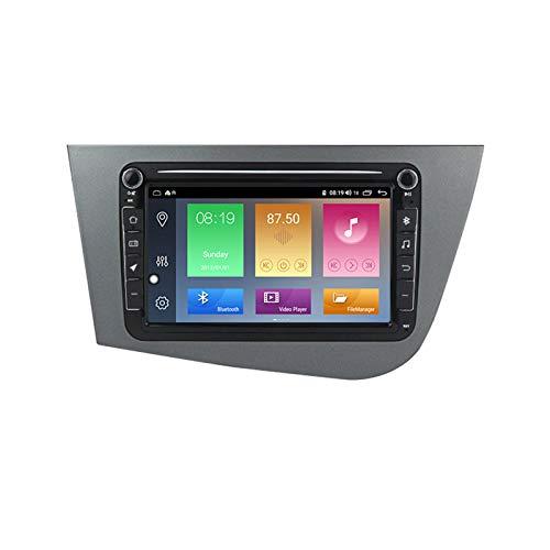 ADMLZQQ Android Autoradio 2 DIN para Seat Leon 2005-2012 Radio con Pantalla táctil 8 Pulgadas con Bluetooth DSP Mirrorlink Cámara visión Trasera Control Volante Monitor reposacabezas,M200
